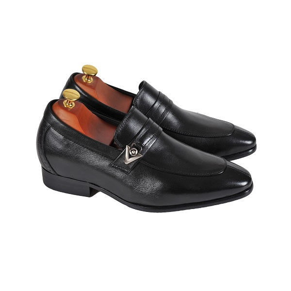 Giày da tăng chiều cao SC70 Black ( Cao 6cm)